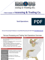 Ferrous Processing and Trading Yard Operations and Transportation