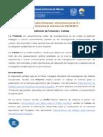 2. Congresoestudiantil2012_2013_Definición_ponenciasycartel