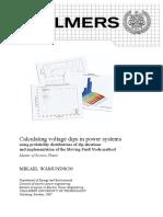 Voltage dip calculation