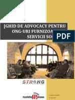 Ghid de Advocacy pt ONG-uri furnizoare de servicii sociale
