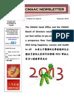 CMAAC 2013 February Newsletter