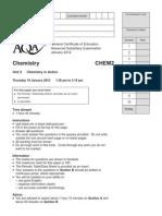 Aqa Chem2 Qp Jan12