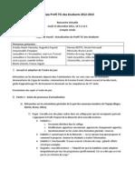 Compte rendu Profil TIC (2012-12-13) Équipe actualisation Profil