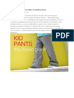 Tutorial y Patrón ropa niños