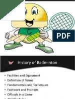 Badminton Slide