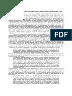 03ALevi-StraussStructuralAnalysisInLinguisticsandAnthropology