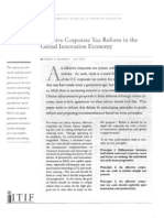 Effective Corporate Tax Reform in the Global Innovation Economy