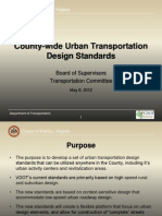Fairfax County Urban Transportation Design Standards