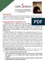 Hora Santa San Juan Bosco. Año de la fe