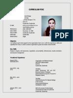 Curriculum Vitae Lucía Cabrera 01-2013
