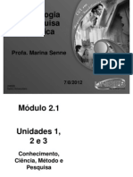 SL 1 2 e 3 Metodologia Científica