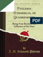 Ptolemys Tetrabiblos or Quadripartite v1 1000004957
