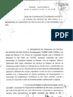 Cadastro - Registro de Imóveis - interconexão. Acordo TJSP-PMSP - 1997