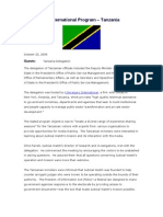 12 October 25, 2006 TANZANIA Meeting Summary