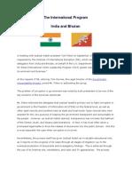 30 September 17, 2010 India and Bhutan Meeting Summary