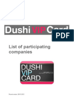 Dushi VIP Card list of participating companies