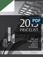 HES 2013 Price List