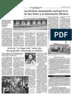 Proyecto Declaración Monumento Nacional Estación Ferroviaria de San Pedro (Quillota)