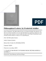 Schiller's Philosophical Letters