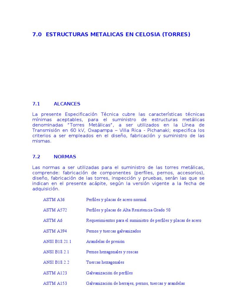 Estructuras Metalicas en Celosia y Postes