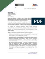 Carta enviada por el CNE a Patricia Salas, ministra de Educación