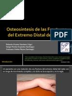 Osteosintesis Fracturas Extremo Distal Del Radio