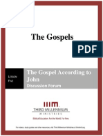 The Gospels - Lesson 5 Forum - Transcript