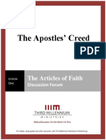 The Apostles' Creed - Lesson 1 - Forum Transcript