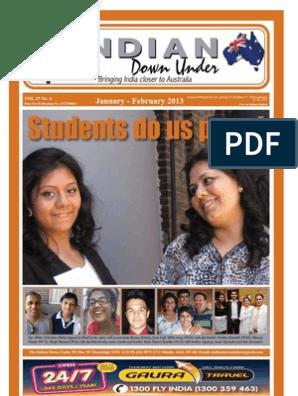 Indian Down Under - February 2013 | Narendra Modi | Bharatiya Janata