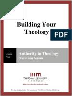 Building Your Theology - Lesson 4 - Forum Transcript