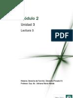 DERECHO PRIVADO VI (DERECHO DE FAMILIA) Módulo 2 - Lectura 3 - Efectos del Matrimonio