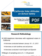 California Voter Attitudes on School Safety