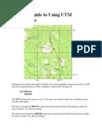 Guide to UTM Coordinates