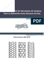 Funcionalizacion de Nanotubos de Carbono Para Su Aaplicacion Como Sensores de Gas