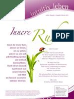 intuitivLEBEN Magazin | 2012_02 | Innere Ruhe, bewusst Leben