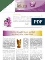intuitivLEBEN Magazin | 2010_03 | Intuition braucht Raum und Zeit, um ihre Kräfte zu entfalten, Intuitionstraining