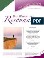intuitivLEBEN Magazin | 2012_04 | Das Wunder der Resonanz, ETH Resonanzcoach