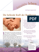 intuitivLEBEN Magazin | 2011_07 | Die heilende Kraft der Berührung, Tao Healing Bodywork - Methode