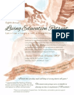 2013 LIVING EDUCATION RETREAT FLYER