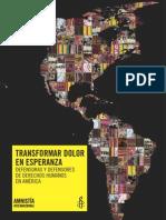 TRANSFORMAR DOLOR EN ESPERANZA DEFENSORAS Y DEFENSORES DE DERECHOS HUMANOS EN AMÉRICA