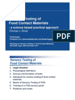 safety testing of food contact material