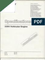 Ia Caterpillar Specifications 3304 VehicularEngine Text