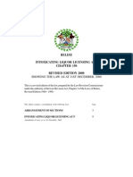 Belize Intoxicating Liquor Licensing Act