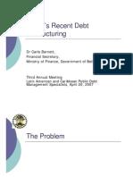 Belize's Recent Debt Restructuring - 2007