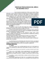 CARACTERISTICAS PSICOLÓGICAS DEL NIÑO DE 8 AÑOS