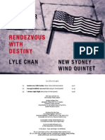 Rendezvous With Destiny (for narrator and chamber ensemble)