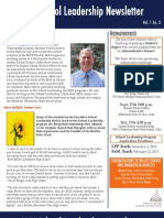 School Leadership Newsletter