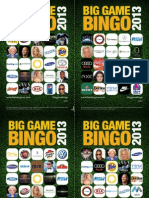 Big Game Bingo 2013 - The Halo Group