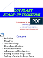 Pilot Plant Scale Up Techniques Used in Pharmaceutical Manufacturing
