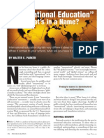 International Education - What's in a Name?